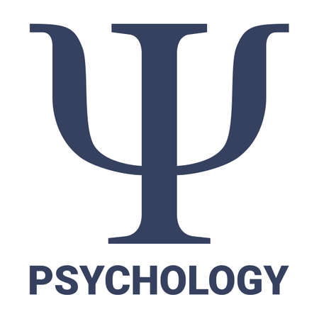 Symbol icon of the academic disciplinary psychology science of the study of mental health. Ideal for institutional and educational materials