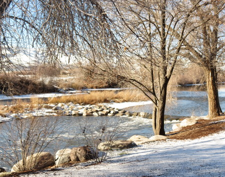 nevada: view of Truckee River in Nevada, USA