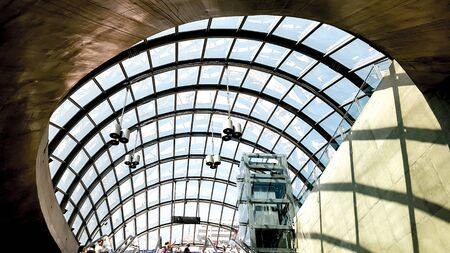 Glass roof of a modern building | Glass roof of a modern building