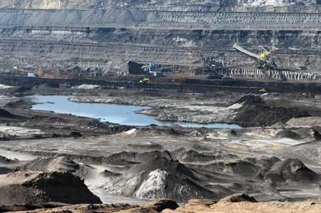 coal mining: a brown coal mine with a bucket-wheel excavator