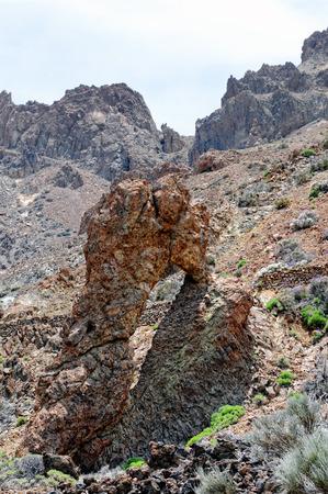 rock arch: rock arch at volcano del teide (Tenerife)