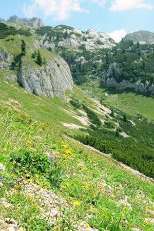 tyrol: Karvendel mountains in tyrol austria Stock Photo