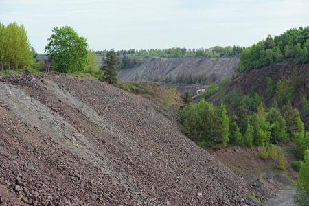 open pit: Porphyry open pit mine Stock Photo