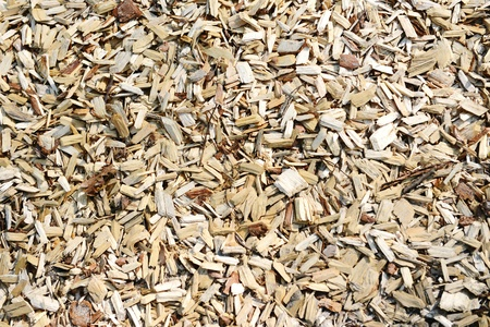 fullframe background of wood chips 스톡 콘텐츠