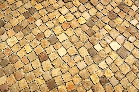 pavement stones. texture. vintage retouch of image Stock Photo