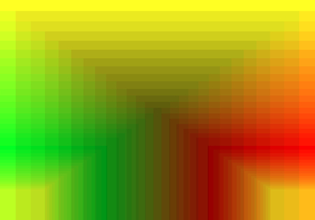 quadratic: green red yellow quadratic pattern in color geometric