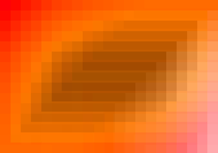 quadratic: red orange quadratic pattern in color geometric.