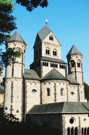 benedictine: Benedictine monastery Maria Laach at Laacher See lake volcano. (Eifel, Germany)