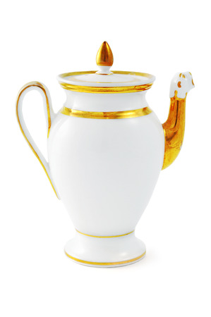 antique coffee pot from 19th century (Biedermeier time), with lion shape spout