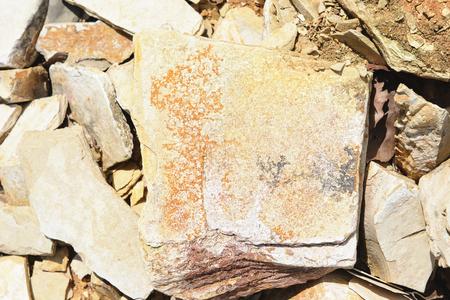 Dendrite minerals on limestone rocks of Solnhofen. full frame backgrounds Stock Photo