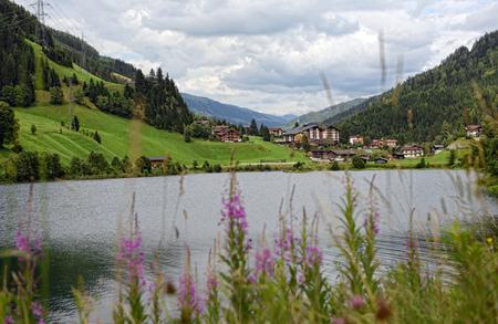 European Alps around village Gerlos in Zillertal valley (Austria). meadows and forests around. Reklamní fotografie