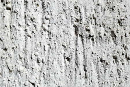 full frame texture of traditional plasterwork at wall. white painted. Stock Photo
