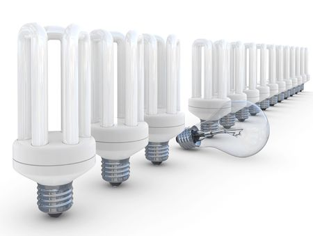 Energy saves lamp isolated on a white background photo
