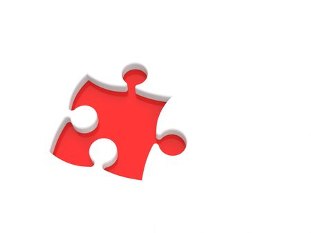 puzzle in pieces over a white background Stock Photo - 5565055