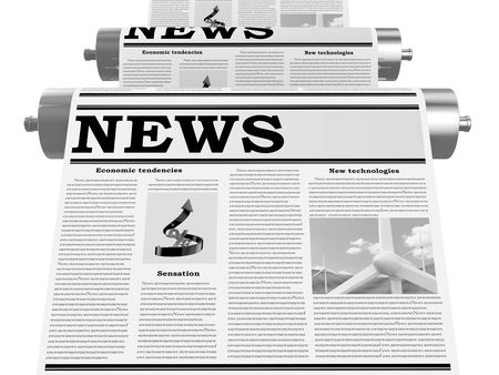 The newspaper on the conveyor in the course of the press Stock Photo - 5565038