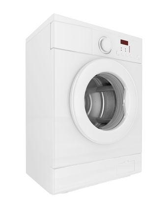 revolve: image 3d of classic washing machine with white background