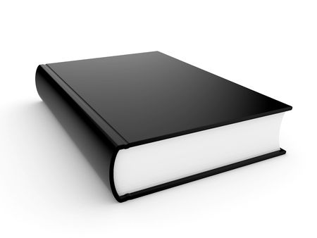 The three-dimensional book in hardcover on a white background Stock Photo - 5688959