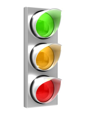 forbid: The traffic light isolated on white background Stock Photo