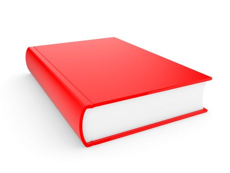 hardcover: The three-dimensional book in hardcover on a white background Stock Photo