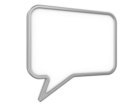 Diálogo de imágenes aisladas de una conversación del significado de signo, Foto de archivo - 5733279