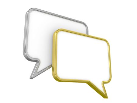 Isolated images of a sign meaning conversation, dialogue Stock Photo - 5733262
