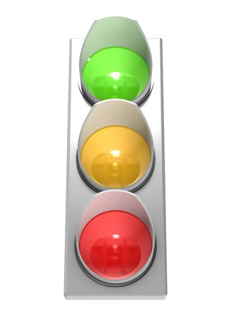 The traffic light isolated on white background Stock Photo - 5733205