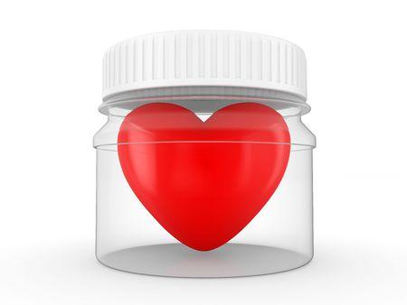 transplantation: Herzen in einem transparenten Gef�� mit einer wei�en Abdeckung auf einem wei�en Kalenderhintergrund, bereit, transplantation Lizenzfreie Bilder