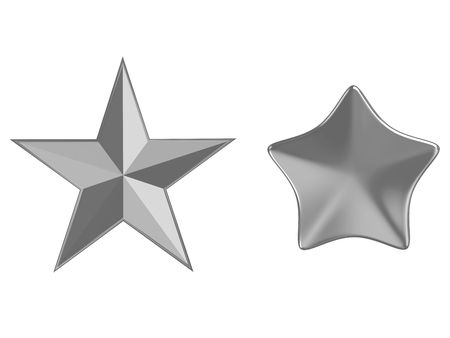Kalsicheksky five-pointed star isolated on a white background Stock Photo - 5926965