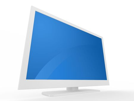 Plasma LCD HDTV Display on a white background Stock Photo - 5965372