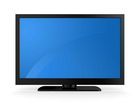 hdtv: Plasma LCD HDTV Display on a white background