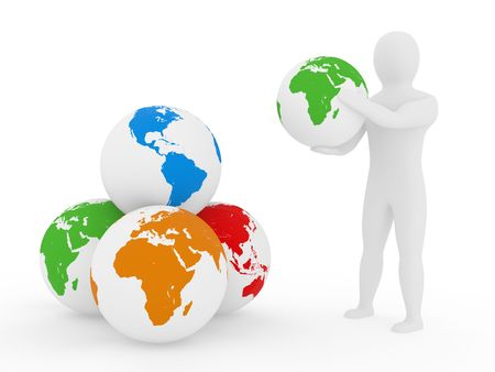 sphere of influence: The Earth in arms of the person, the concept of preservation of the environment