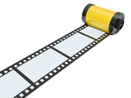 35mm: 35mm empty film isolated on white background