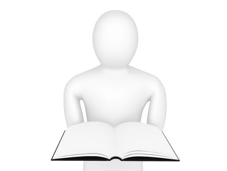 The person holds the book in hands Stock Photo - 6412124