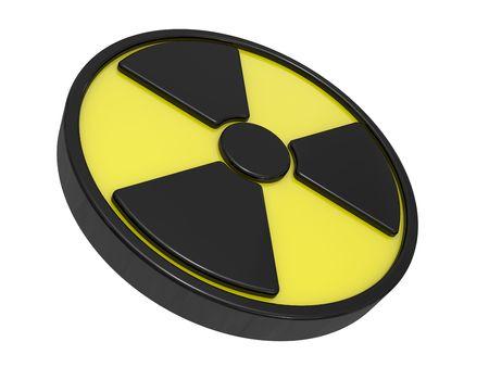 radiactividad: Firmar una actividad de radio, un signo de advertencia sobre el peligro