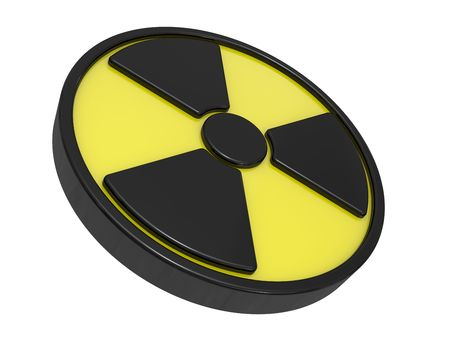 radioisotope: Sign a radio-activity, a sign warning about danger Stock Photo
