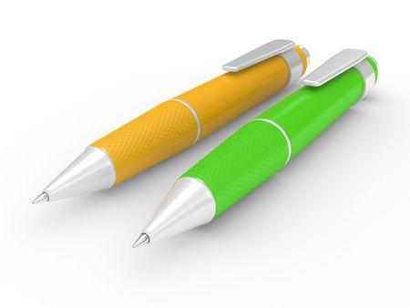 ballpoint pen: beautiful ball point pen isolated on white background Stock Photo