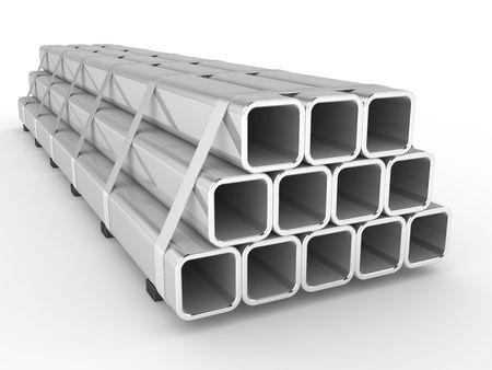 siderurgia: Acero Plaza un perfil sobre un fondo blanco