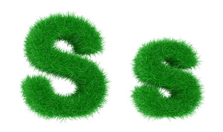 basis: High resolution grass font isolated on white background