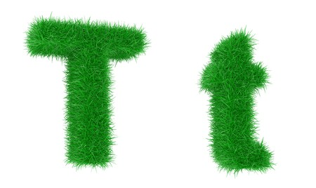 grass font: High resolution grass font isolated on white background