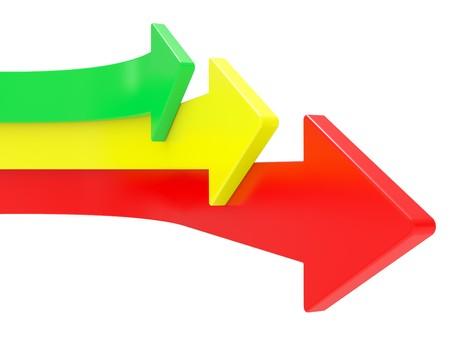 flecha direccion: Las flechas dirigida hacia arriba, el concepto de competencia  Foto de archivo