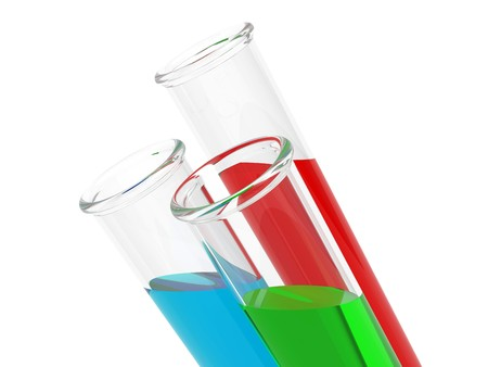 Test tubes isolated on a white background Stock Photo - 7496088