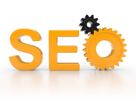 SEO - Search Engine symbol with gears Stock Photo - 7599335