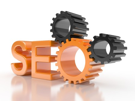 SEO - Search Engine symbol with gears Stock Photo - 7599345