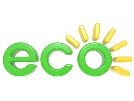 3D Eco  label, on a white background photo