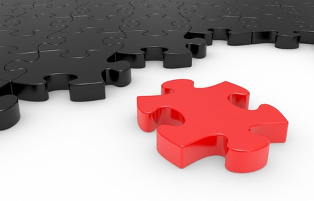 puzzle in pieces over a white background Stock Photo - 7669725