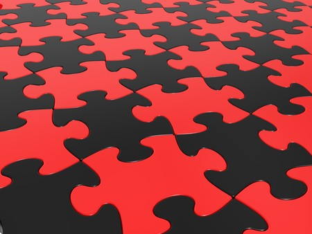 considerable: Pattern collected from a considerable quantity of puzzles  Stock Photo
