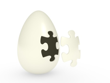 novice: abstract egg with the puzzle cover Stock Photo