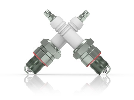 3d illustration. Spark Plug on white background. Stock Illustration - 7788007
