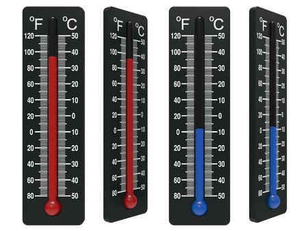 hotness: Spirit the thermometer isolated on a white background Stock Photo