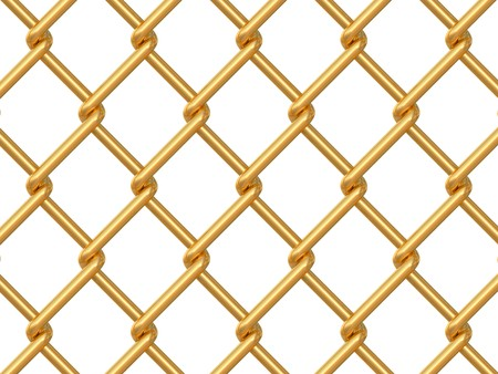 chainlink fence on white background photo